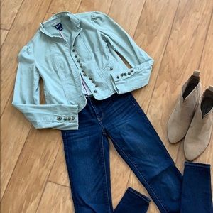 {GAP} mint green military cut jacket